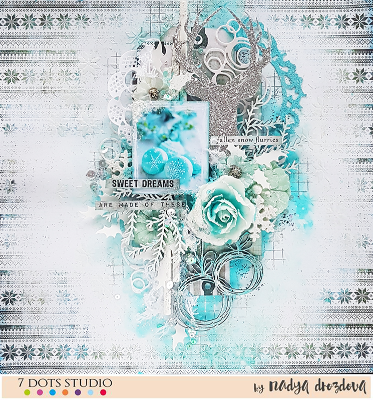 Snow flurries by Nadya Drozdova – 7 dots studio