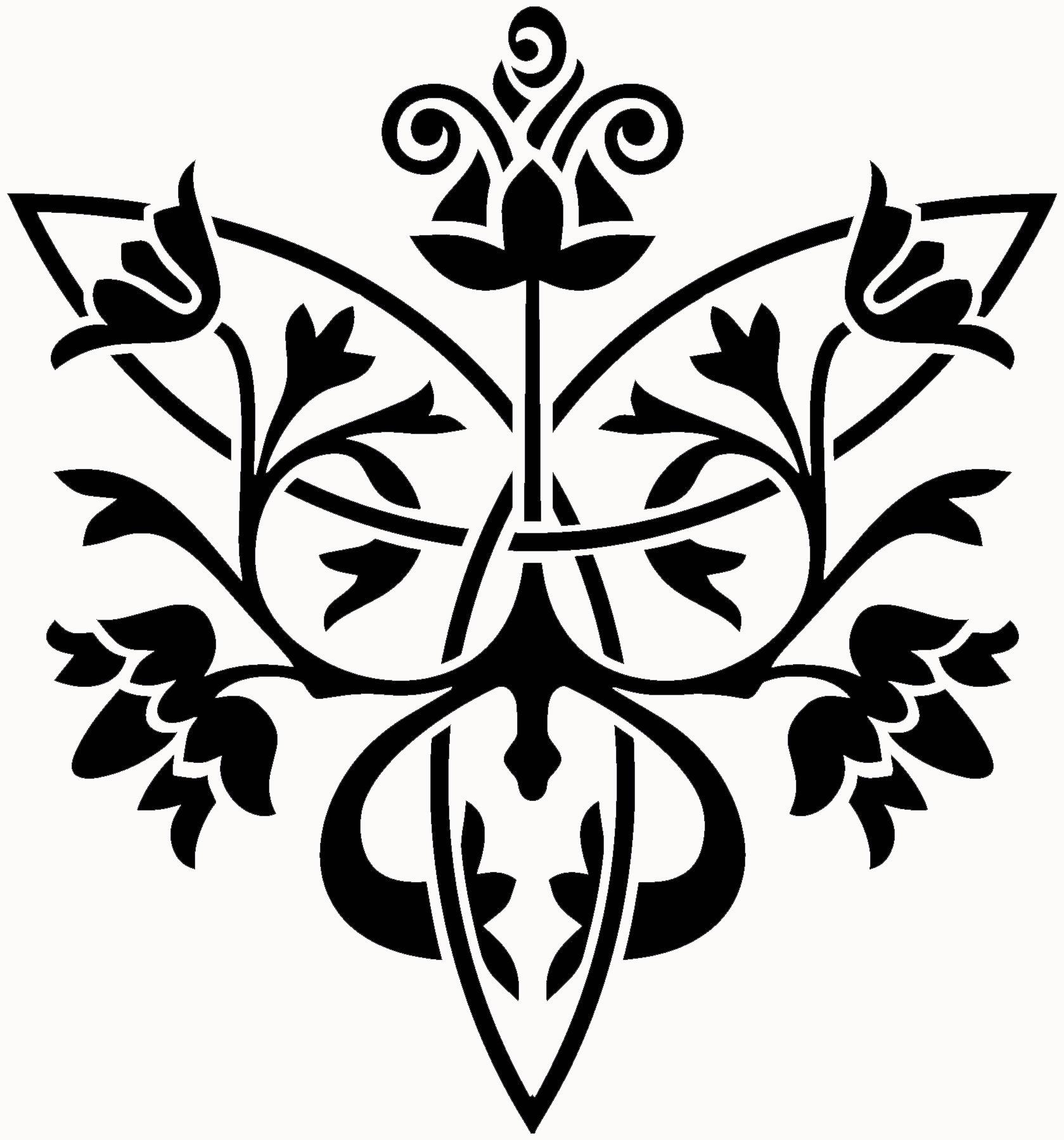 Garden Party - Floral Knot Stencil