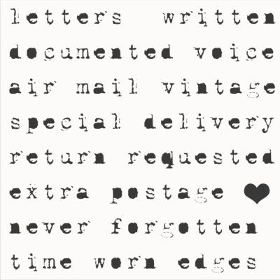 Air Mail - Postage Notes Stencil
